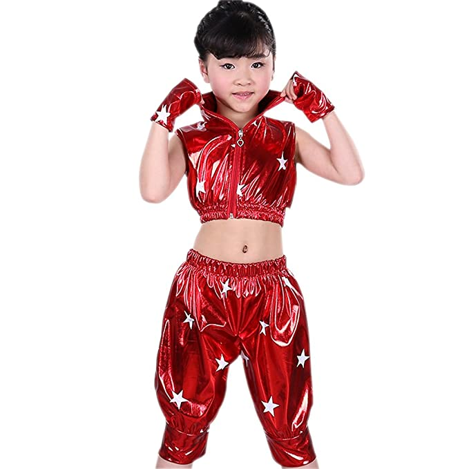 af67fef0f KINDOYO Kids Girls Boys Stars Jazz Dance Costumes Stage Performance Hip-Hop  Dance Wear Outfits