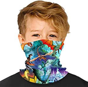 CarBBo W-ings of Fi-Re Kids Bandanas Neck Gaiter Half Face Protective Magical Multi Funtion Balaclava