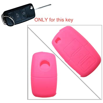 tuqiang® 1pc color rosa 3 botones plegables llaves Llave Cover ...