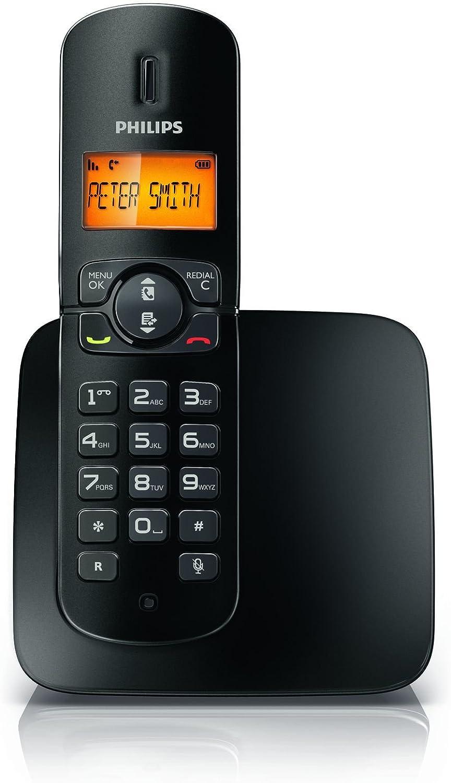 Philips CD1801B/23 - Teléfono inalámbrico BeNear, color negro: Amazon.es: Hogar