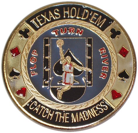 Trademark Basketball Card Guard Poker Button (Multi) by Trademark Global