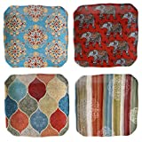 Certified International Spice Route Canape Plates (Set of 4), 6'', Multicolor