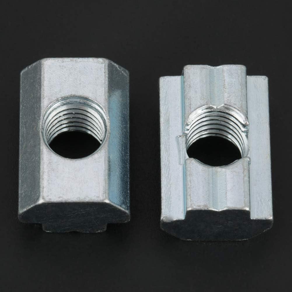 T-Nut Nutenstein GB slider nut type 40 M8 Fydun 20 Tlg Verzinkte Kohlenstoffstahl Nutensteinmutter T-Nut-Muttern f/ür Aluminium Profile Zubeh/ör Vom Typ 40
