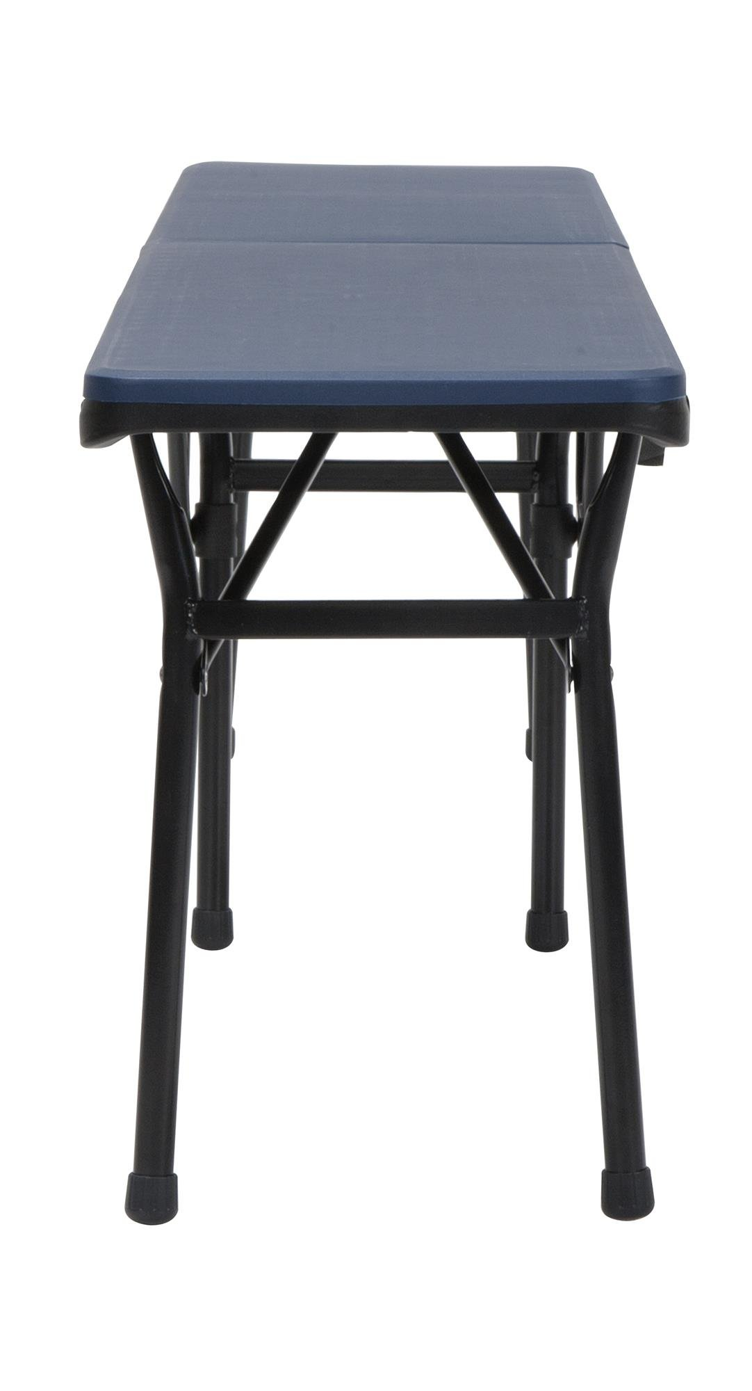 COSCO 6 ft. Indoor Outdoor Center Fold Tailgate Bench with Carrying Handle, Dark Blue Bench Top, Black Frame, 2-pack by Cosco Outdoor Living (Image #4)