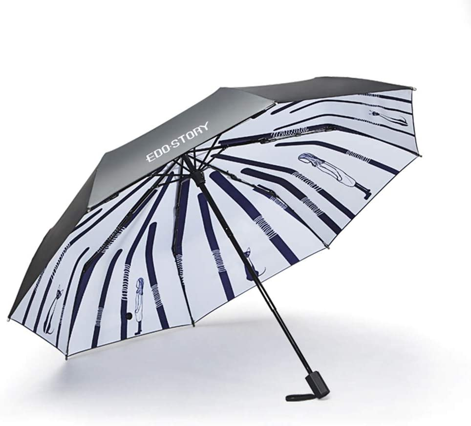 Color : A Umbrella Umbrellas UV Protection Rain and Rain Dual-use Eight Alloy Frame Three Fold Umbrella Easy to Fold