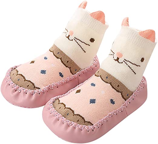 Toddler//Little Kid Lurryly❤Christmas Baby Boys Girls Animal Cotton Shoes Anti-Slip Home Shoes