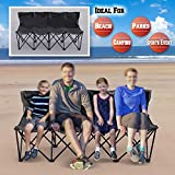 BenefitUSA Portable Sports Bench Sits 3/4/6