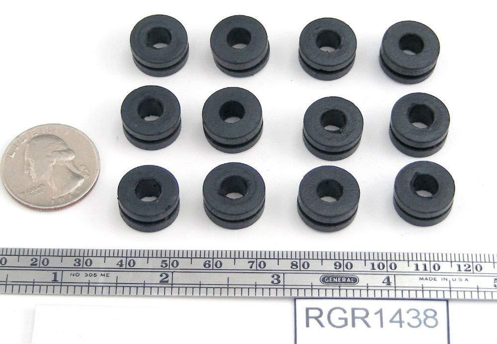 24 Rubber Grommets 1/4'' Inner Diameter - Fits 3/8'' Panel Hole