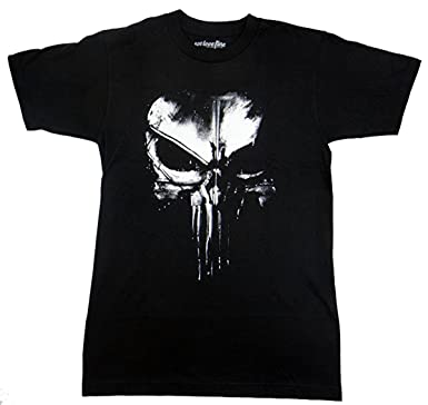 e35fde02555e Amazon.com: Marvel The Punisher Dirty Skull T-Shirt (XX-Large) Black:  Clothing