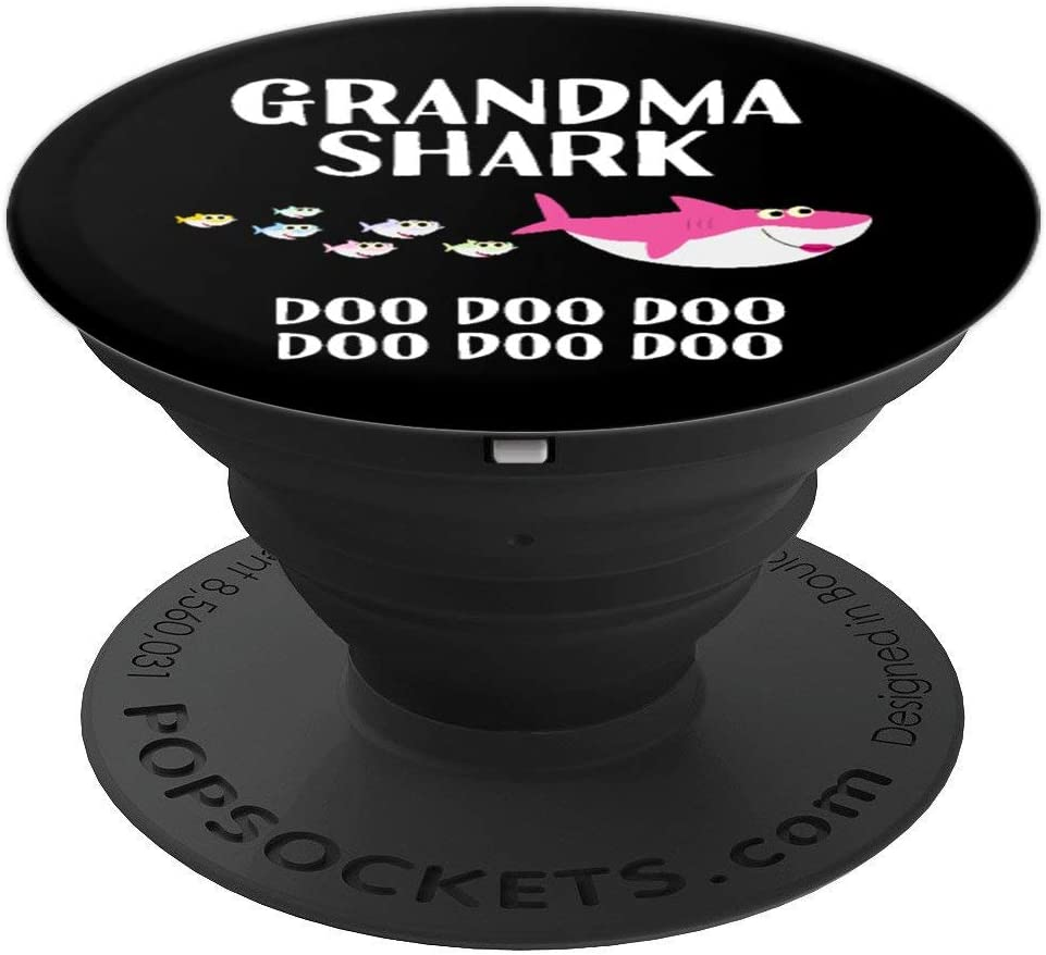 Grandma Shark Doo Doo Women Halloween Christmas Gift PopSockets Grip and Stand for Phones and Tablets