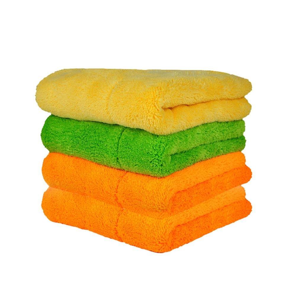 KOBWA Pawaca - Toallas de Limpieza para Coche (Microfibra, Muy Gruesas, 4 Unidades): Amazon.es: Hogar