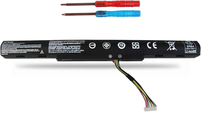 Vinpera AS16A5K AS16A7K AS16A8K Replacement Battery for Acer Aspire E15 E5-475 E5-475G E5-523 E5-553 E5-575 E5-575G E5-575T E5-575TG E5-774 E5-774G E5-575G E5-575-59QB E5-575-33BM 14.8V 2600MAH