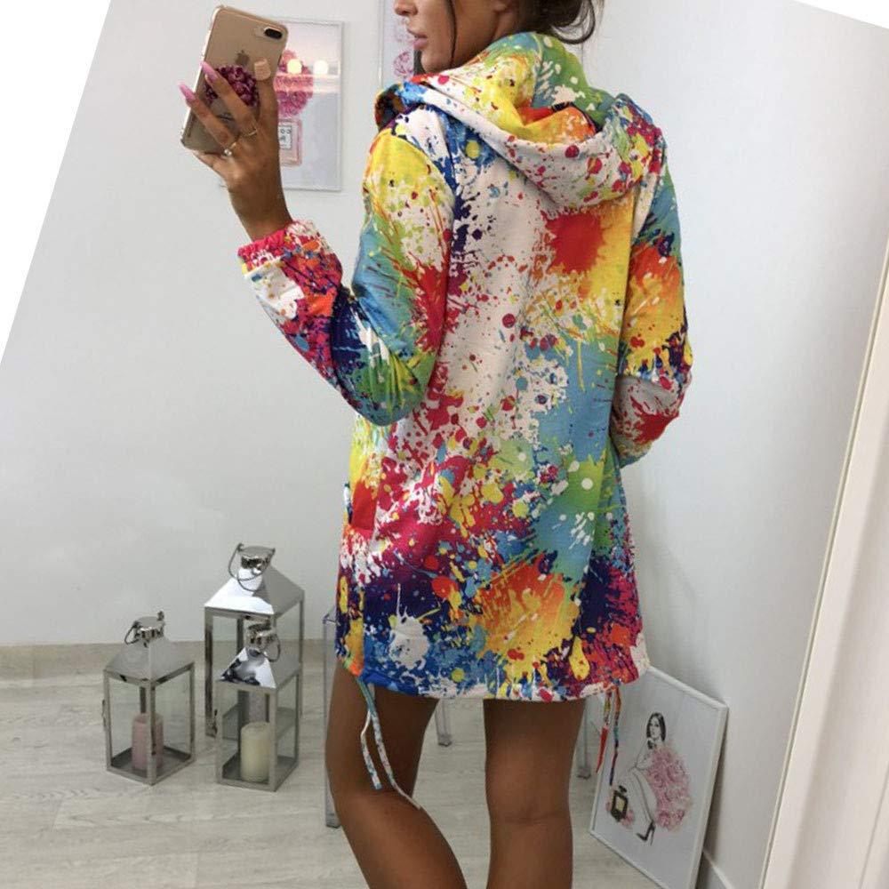 1a7da4cfef29 AIMEE7 Veste Femme Hiver Chaud Chic Teinture Coloré Imprimer Manteaux à  Capuche Grande Taille Sweat à Capuche Vetement Femmes Pas Cher a la Mode  Hoodie ...