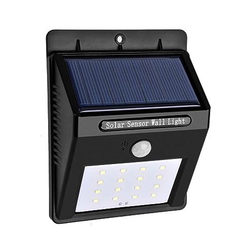 LED Solar Luz del Sensor de movimiento, joybeans inalámbrico impermeable al aire libre luz para