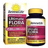Renew Life Women's Probiotic - Ultimate Flora Probiotic Women's Care, Shelf Stable Probiotic Supplement - 25 Billion - 60 Vegetable Capsules