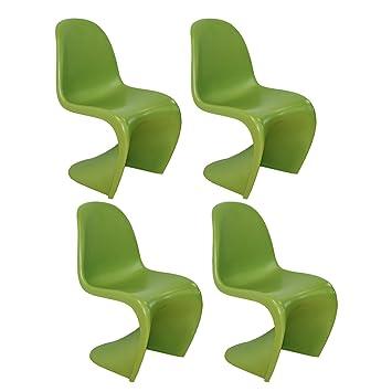 MOD Made Stuhl S Form Bis Mitte Des Jahrhunderts Modern 4er Pack Grün