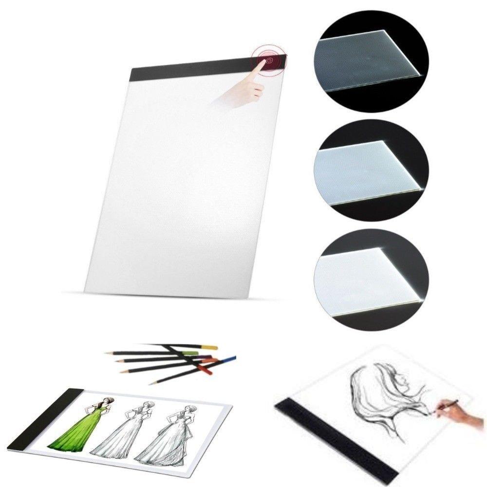 DOBO® Tavola Luminosa da Disegno ricalco Foglio A4 Pad Luminoso Lavagna Cavo USB LED tracciamento Linee tracing bozzetti Sketch