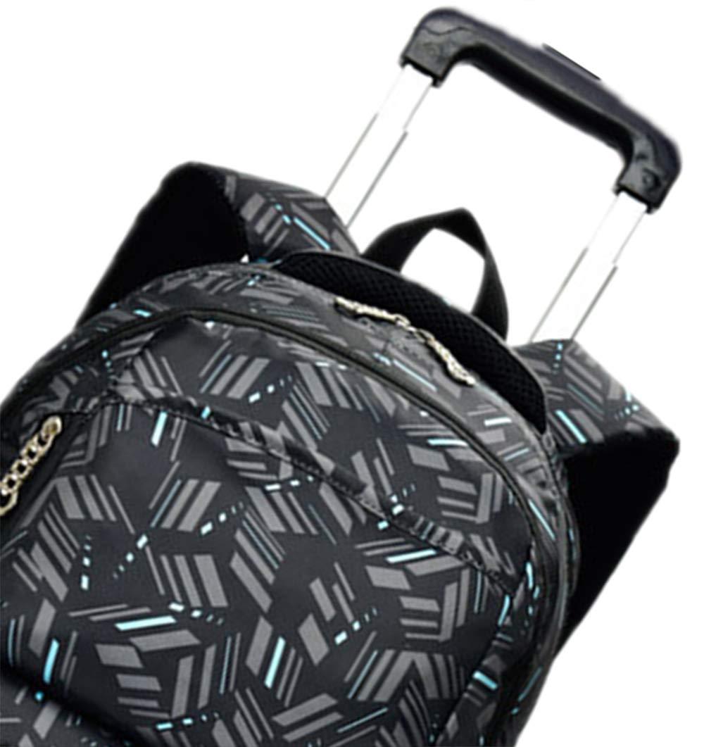 Faltbare Studenten Studenten Studenten Pull Rod Rucksack - Stilvolle rollbare erweiterbare Rod Schultasche (Kaffee, 6 Räder) a582c0