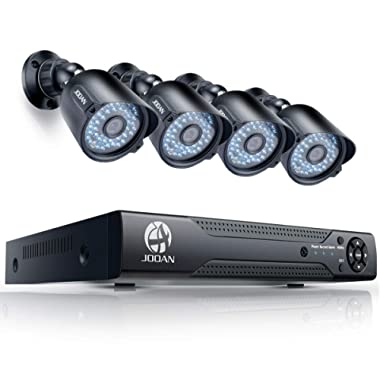 JOOAN HD 1080N Security Camera System for Home Surveillance Bullet Camera (8CH DVR Kit)-No HDD