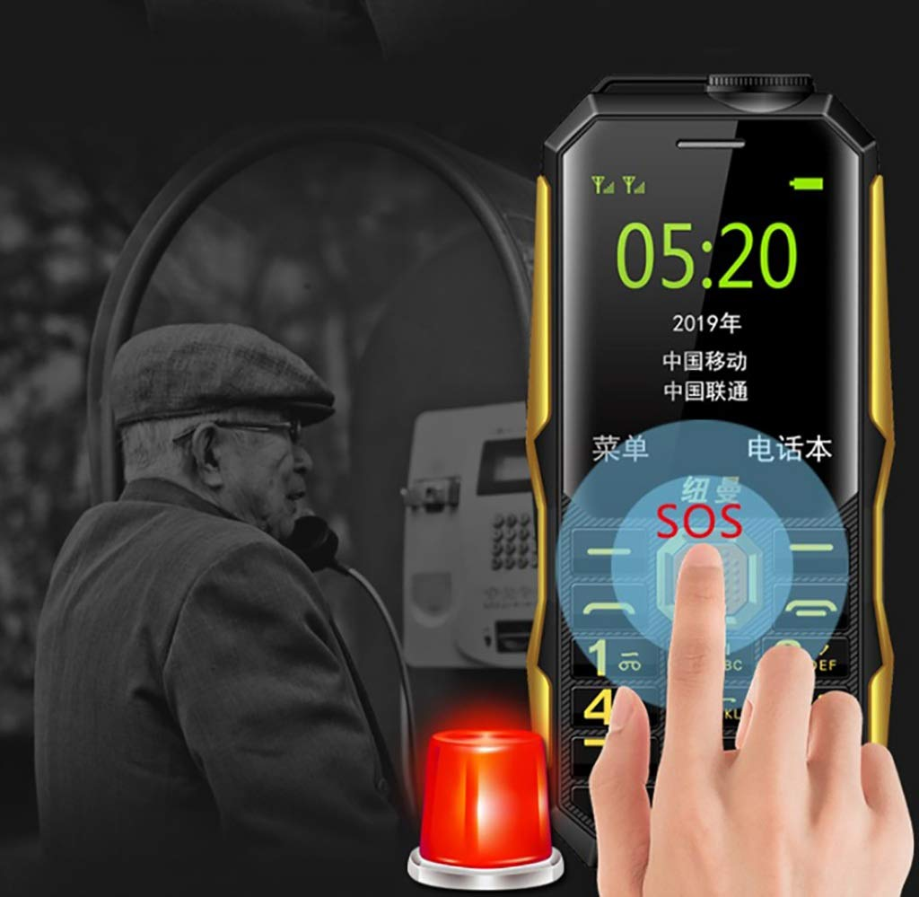 Mobiles Three Anti-Military Old Man Machine Long Standby Large Screen Big Words Loud Old Mobile Phone (Color : D)