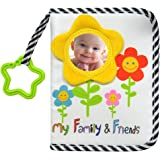 My Family and Friends Baby Photo Album with Sunflower Baby-Safe Mirror Holds 18 Photos