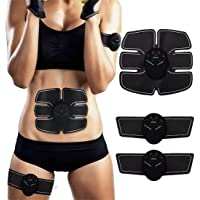 SEEYC Abs Trainer EMS Abdominal Muscle Stimulator Muscle Toning Belts Home Workout Fitness Device for Men & Women