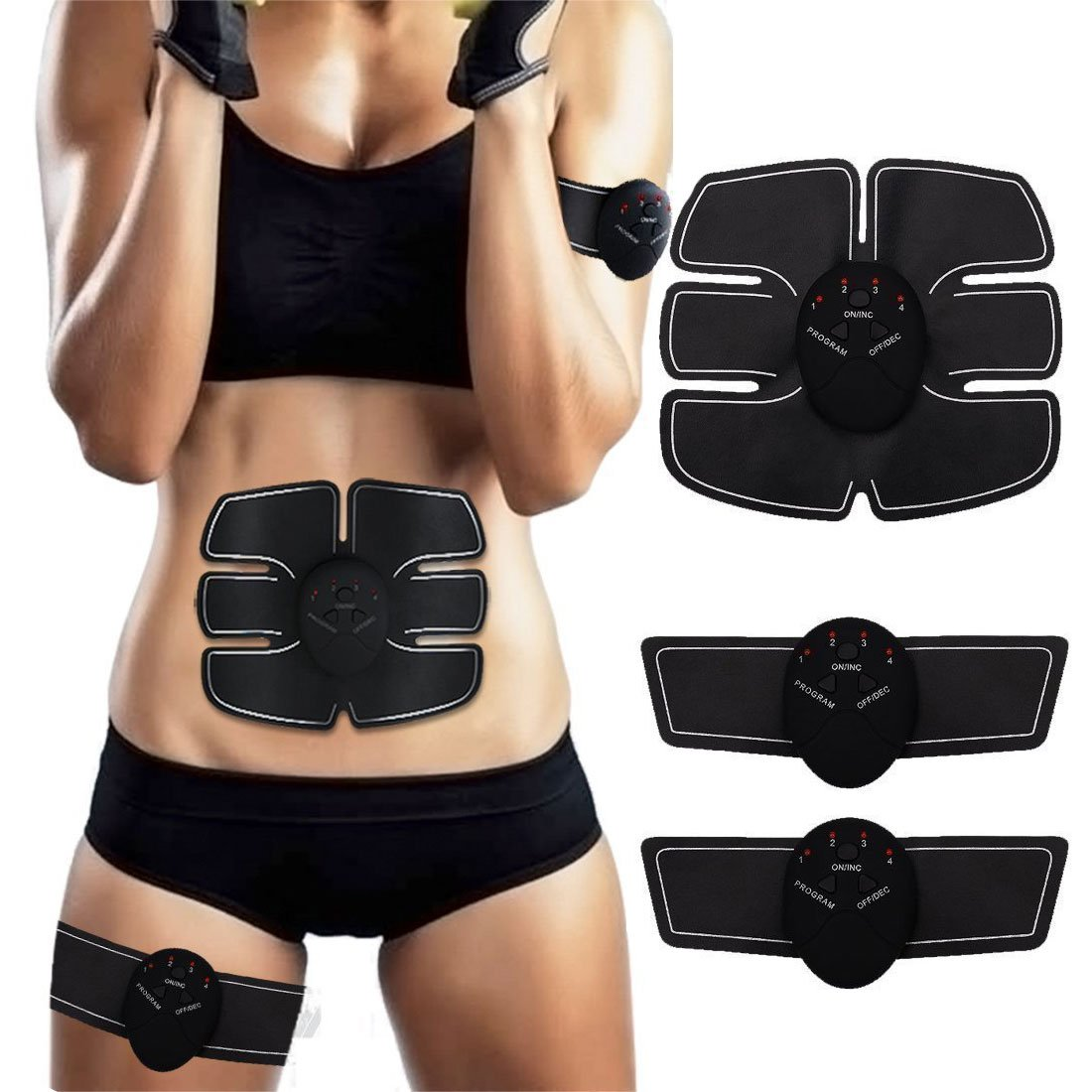 Smart Stimulator Muscle Sticker Arm Leg Massager Pad Slimming Shaping Exercise Fitness Gym Sports Training Gear Fitness & Body Building