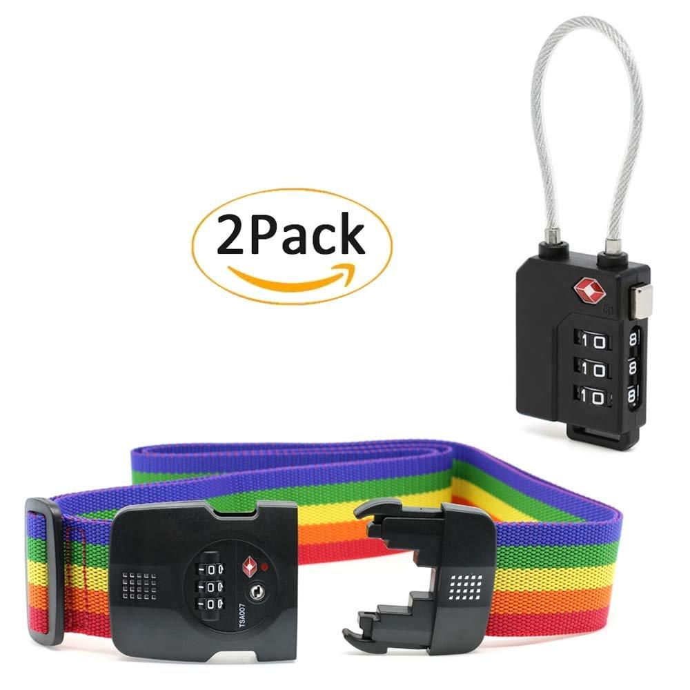 YiF Luggage Strap Adjustable Suitcase Belt with TSA Combination Lock by YiF