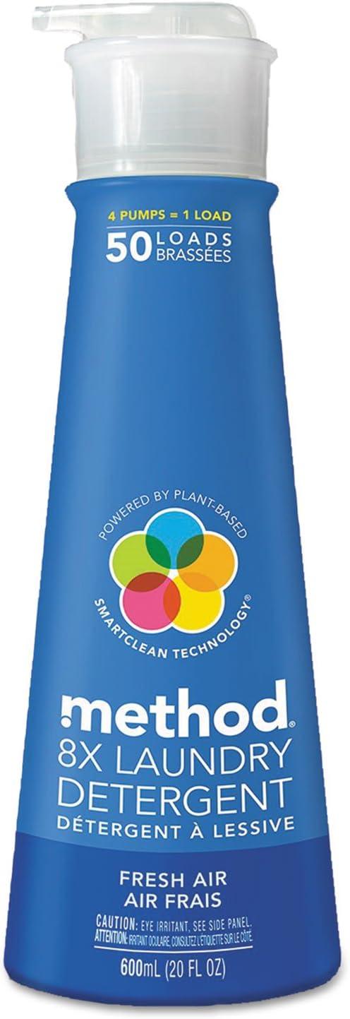 Method 01127 8X Laundry Detergent, Fresh Air, 20 oz Bottle