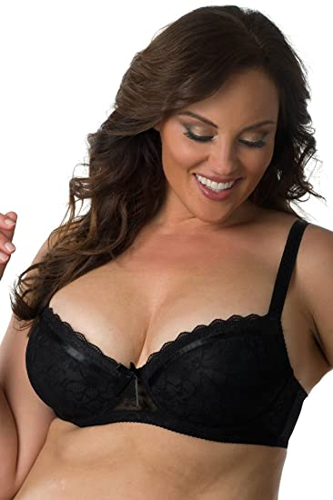 d6885c89503 Velvet Kitten Women s Plus Size Lace Bra B24185X Black 34DD at Amazon  Women s Clothing store