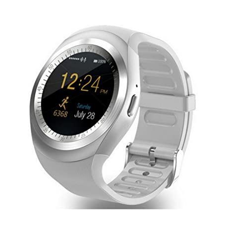 Amazon.com: C-Xka Reloj inteligente redondo Bluetooth con ...
