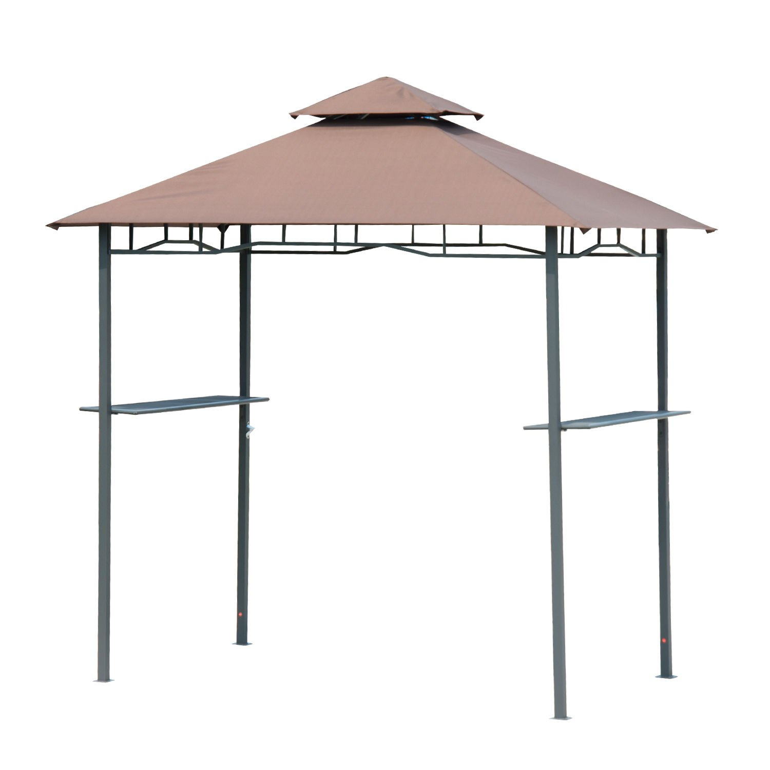 Outdoor 8FT Double-tier BBQ Grill Canopy Barbecue Shelter Tent Patio Deck Cover by Tamsun