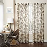 Eclipse 15459052084NAT Wythe 52-Inch by 84-Inch Floral Light Filtering Single Sheer Curtain Panel, Natural Review