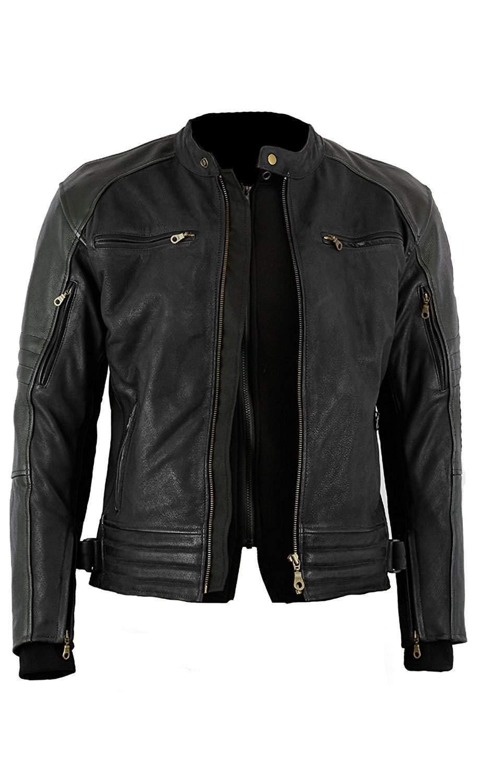 taglia Small Full nero Bikers Gear The Craig giacca moto nabuk cerato in pelle bovina con cappuccio con 5/punti Armour