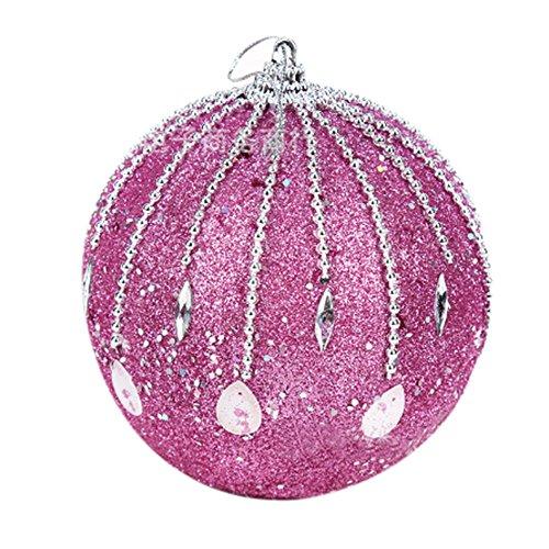 DongDong☃ Stylish Glitter Baubles Christmas Rhinestone Balls Tree Ornament Xmas Decoration ()