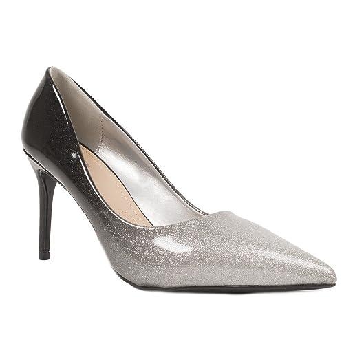 5806a27481ed Escarpins Paillette dégradé Verni - Chaussure de soirée Femme à Talon  aiguille-40