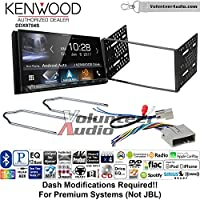 Volunteer Audio Kenwood DDX9704S Double Din Radio Install Kit with Apple Carplay Android Auto Fits 2003-2011 Crown Victoria, 2005-2007 Escape