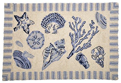 Treasures By The Sea Blue Hooked Wool