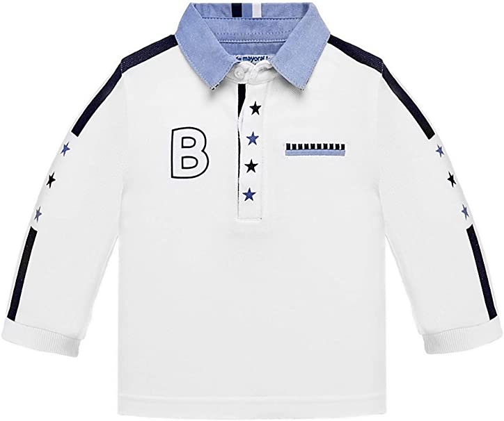 1124 White L//s Polo for Baby-Boys Mayoral