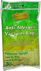 Panasonic Type U, U-3, U-6 Upright Vacuum Cleaner Bags