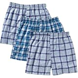 Hanes Men's Big & Tall Comfort -Blend Woven Boxer - 3 Pack - Assorted Color (5XL, Assorted)