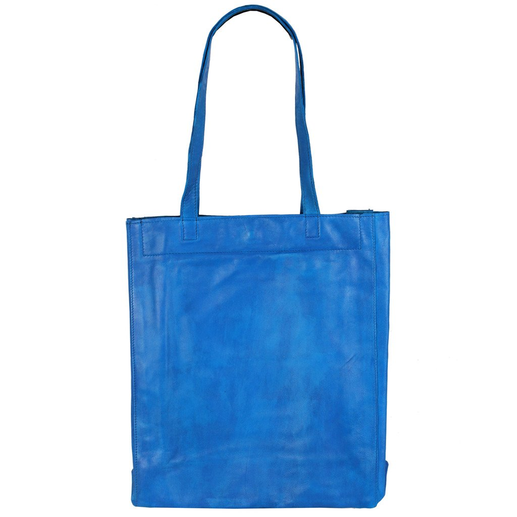 Latico Leathers Saugatuck Tote Genuine Authentic Luxury Leather, Designer Made, Business Fashion and Casual Wear, Turquoise by Latico (Image #5)