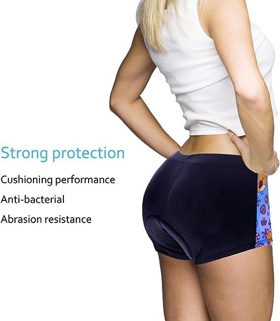 YGBH sous vêtements pour Femmes Shorts Coussin 4D Antichoc