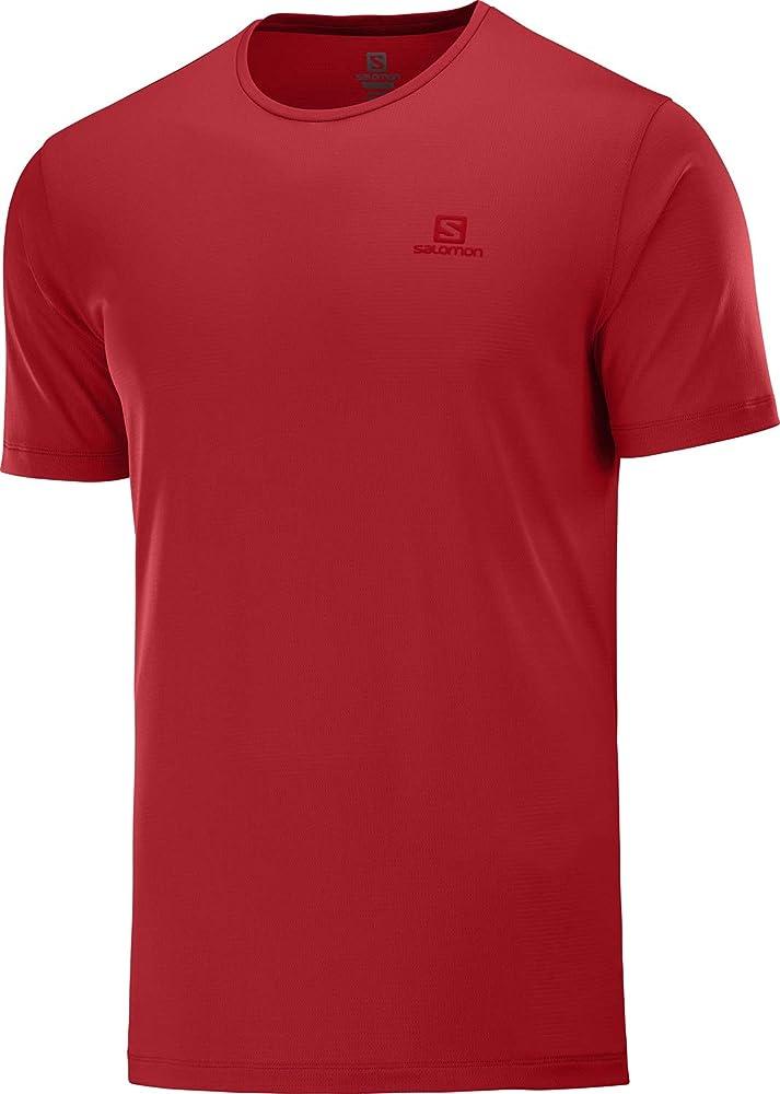 SALOMON Hombre Camiseta Deportiva de Manga Corta Poliamida//Poli/éster Agile Training tee M
