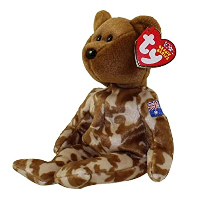 TY Beanie Baby - HERO the Military Bear (Australia Exclusive Version): Toys & Games