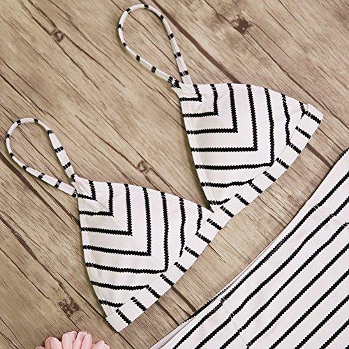 bagno a spiaggia Push Biquini donne Top strisce S delle usura da della fasciatura nero bikini bianco Vita femminile alta costume bagno Costume HL2143D1 da Macxy Costumi Up 7UqgfYwW