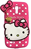 Sajni Creations Cute cartoon Hello Kitty Silicone With Pendant Back Case Cover For Samsung Galaxy S4 - (PINK)