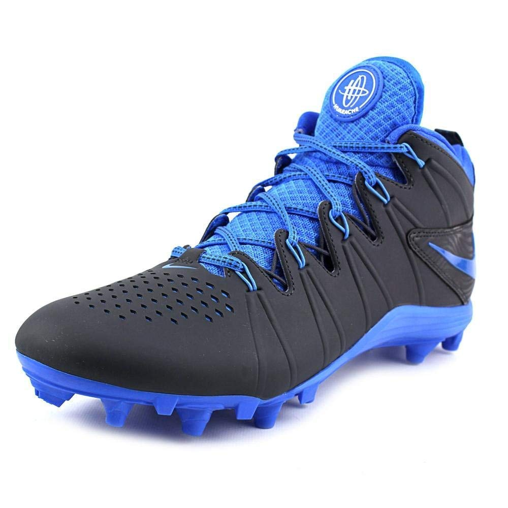 NIKE New Huarache 4 LAX Lacrosse/Football Cleats Anthracite/Blue Sz 12 M