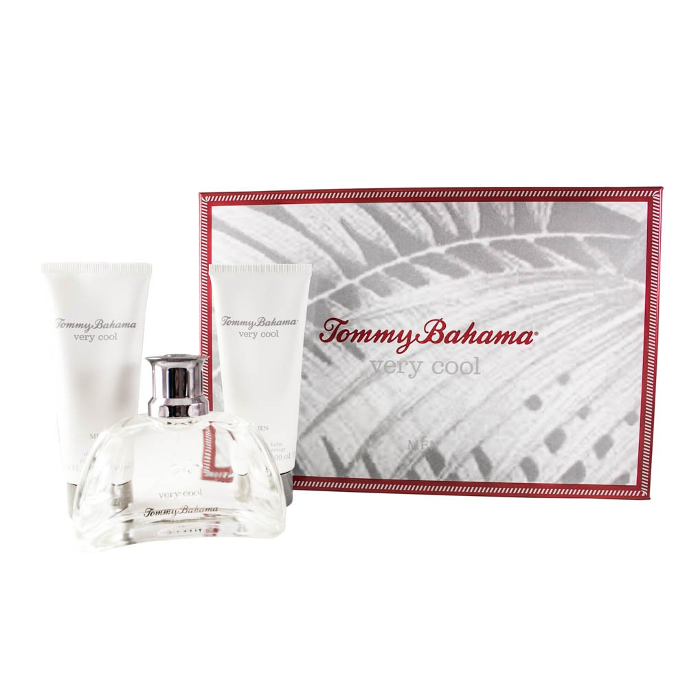 Tommy Bahama Very Cool 3 Piece Gift Set (Eau De Cologne Spray 3.4 Oz & Aftershave Balm 3.4 Oz & Shower Gel 3.4 Oz) for Men, 3.4 fl. Oz. TOB71M