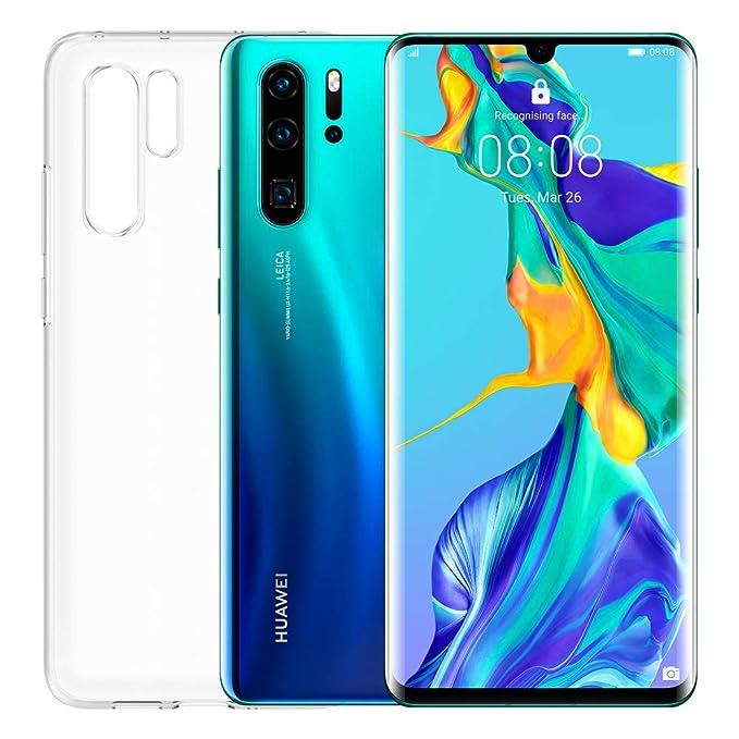 "Huawei P30 Pro Smartphone + Cover Trasparente, 8GB RAM, Memoria 128GB, Display 6.47"" FHD+, Processore Kirin 980, Quadrupla Fotocamera 40+20+8MP, Sensore TOF, SuperZoom 50x, [Italia], Aurora"